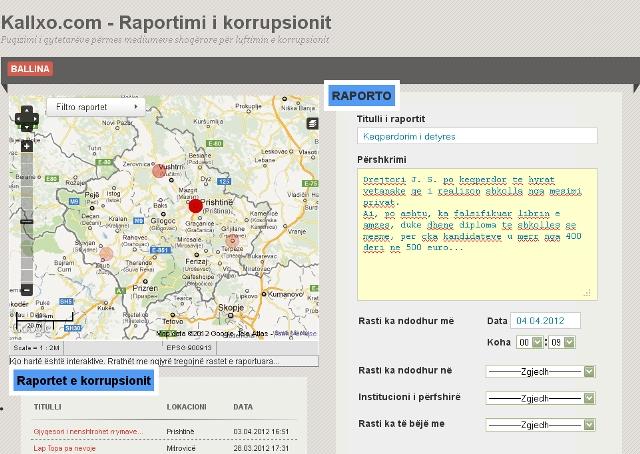Ballina e sajtit kallxo.com | Foto: print screen