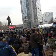 Pamje nga protesta